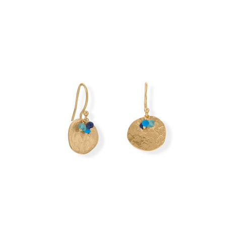 Delila Boho Textured Disk Drop Earrings