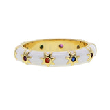 Asteria gold filled enamel mystic ring