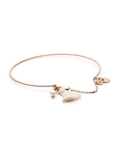 Dear Addison Iris Bangle - White