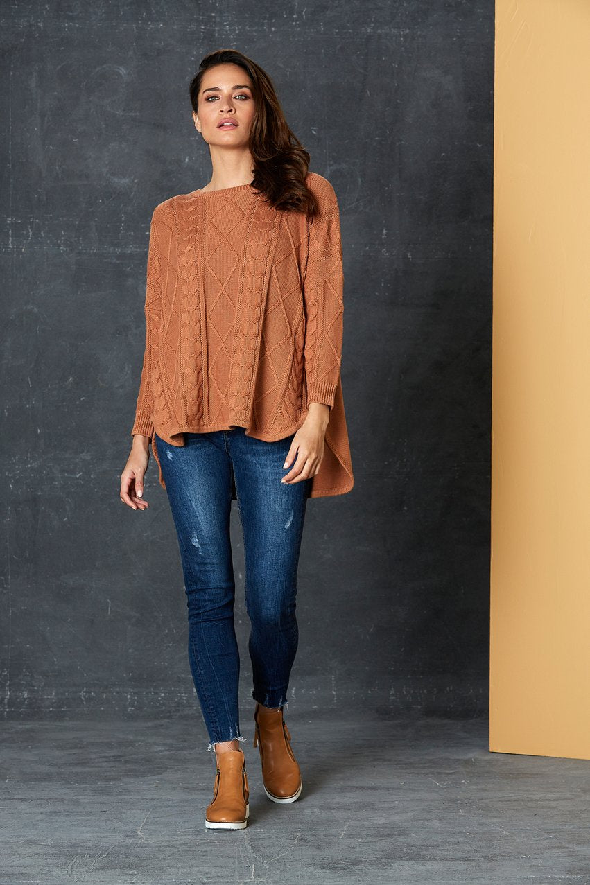 Unwind Cable Knit Caramel