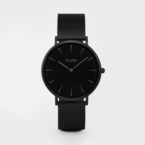 Cluse Watch Black Mesh on Black