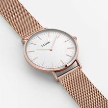 Cluse Rose Gold Mesh Watch Large