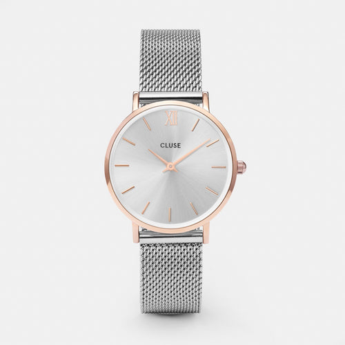 Cluse Silver Mesh Rose Gold Small