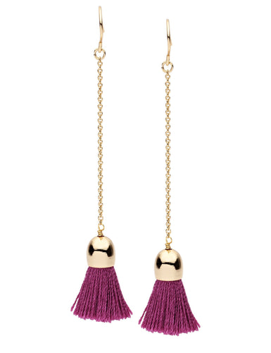 Dear Addison Drop Earrings Dark Pink