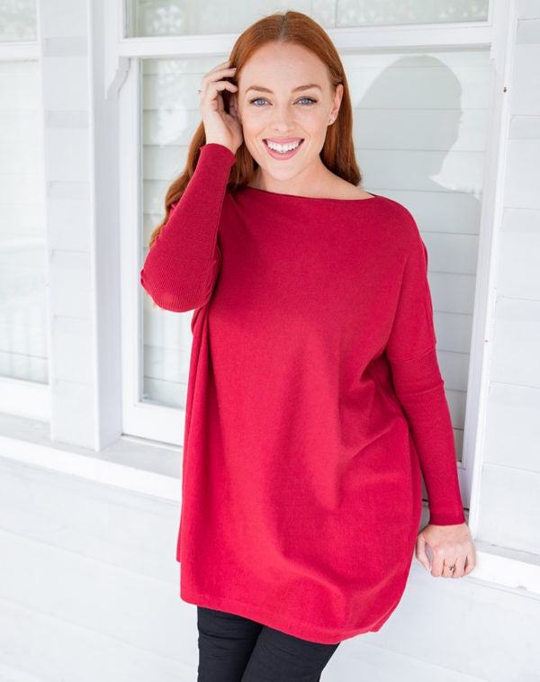 Slouch Knit Berry