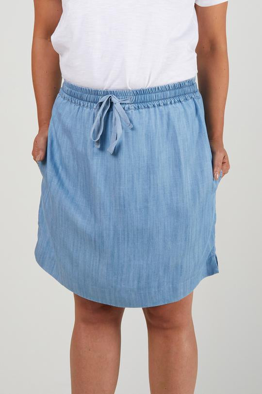 Hem Skirt Chambray