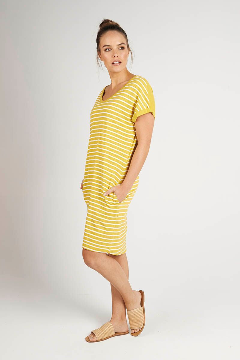 Mustard Stripe Dress