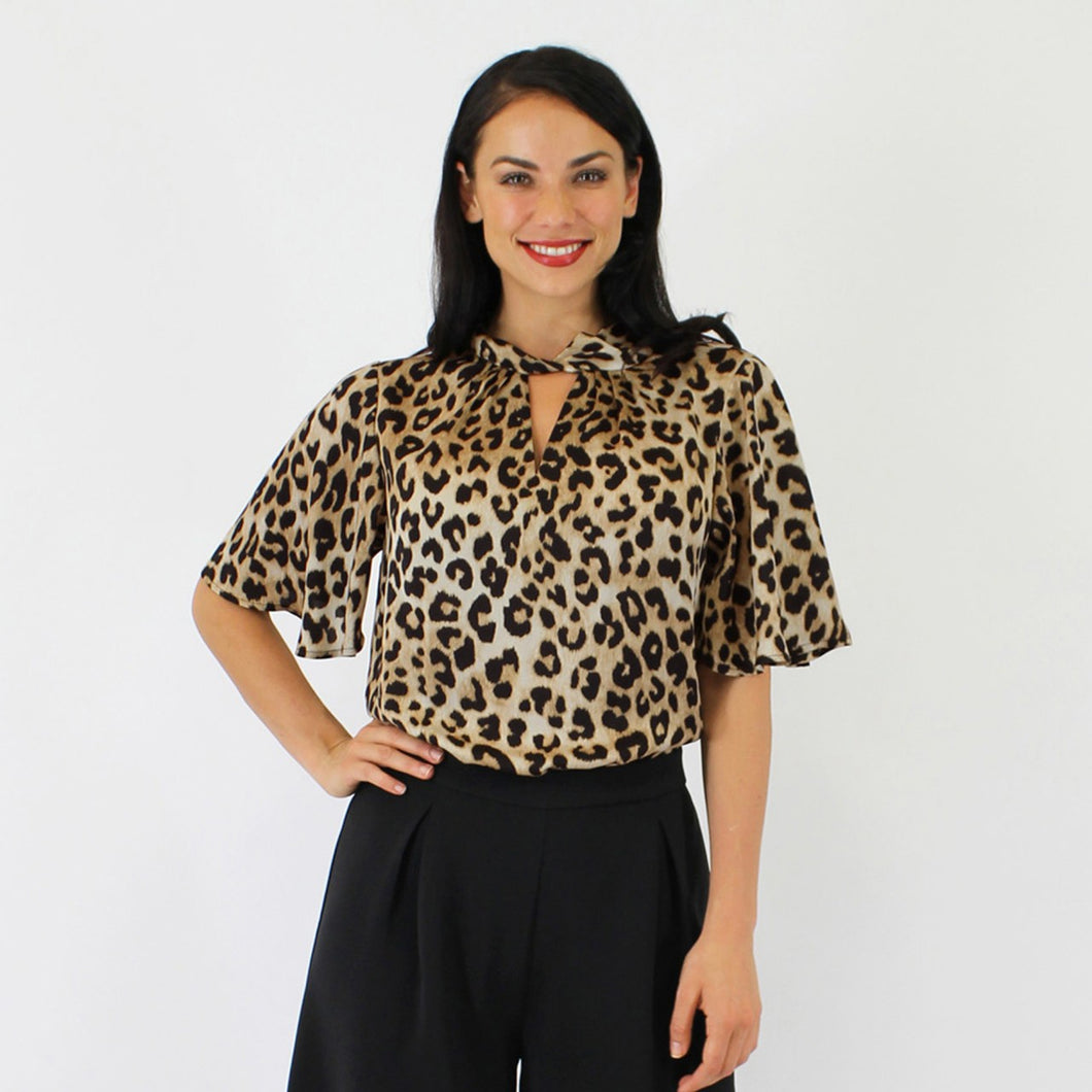 Leopard Dancer Top