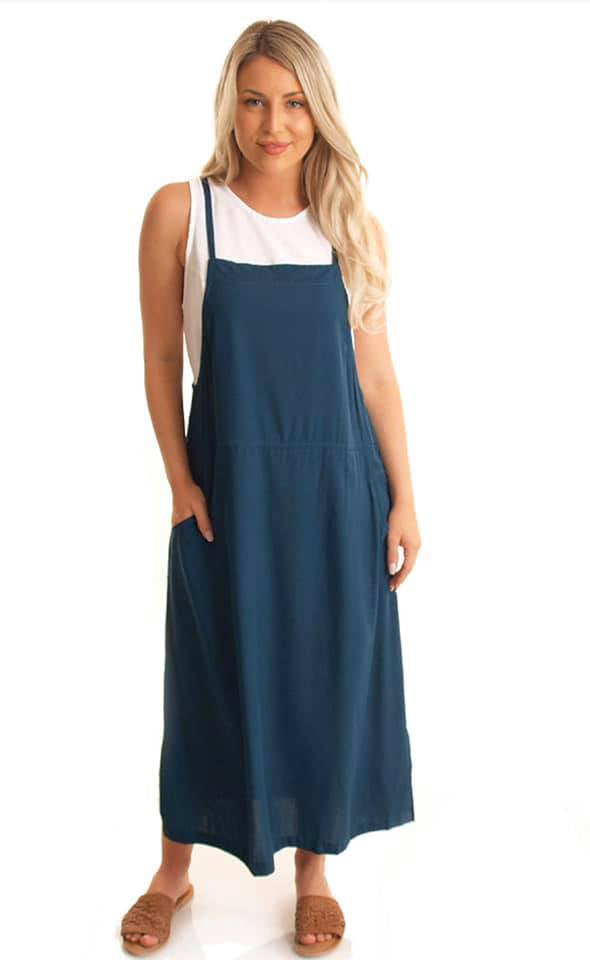 Apron Dress Teal