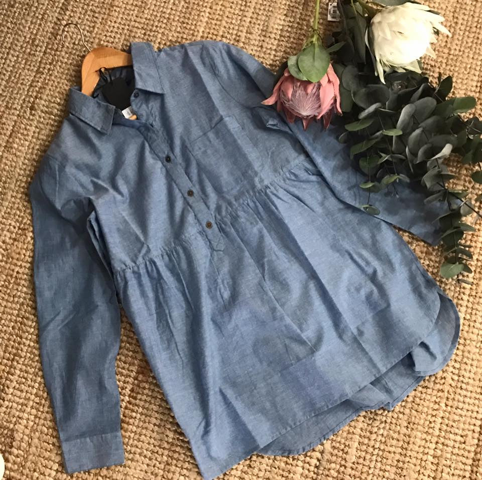 Blue Blouse with Buttons
