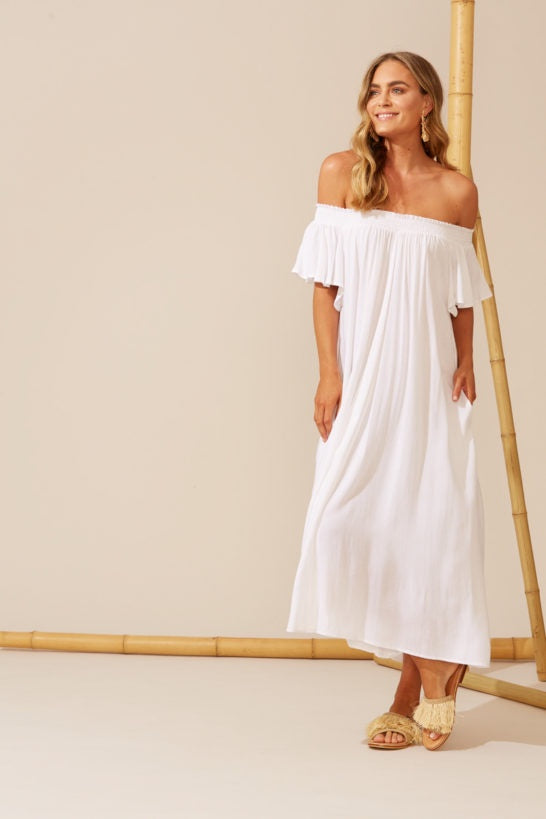Isola Off Shoulder Dress