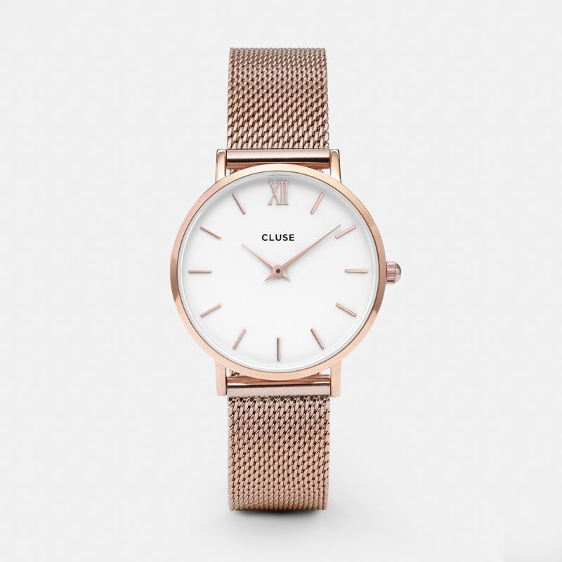 Cluse Rose Gold Mesh Watch Small
