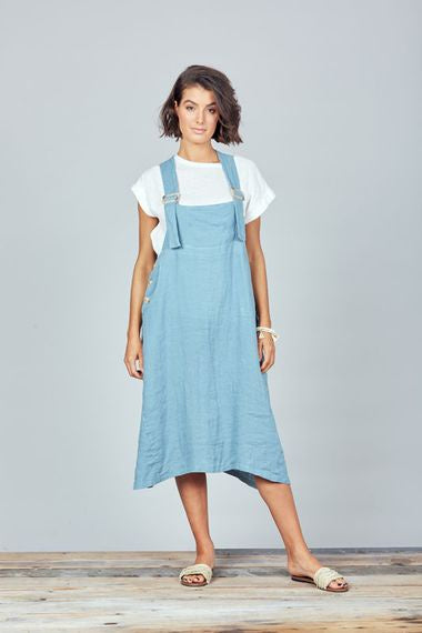 Sunset pinafore Blue
