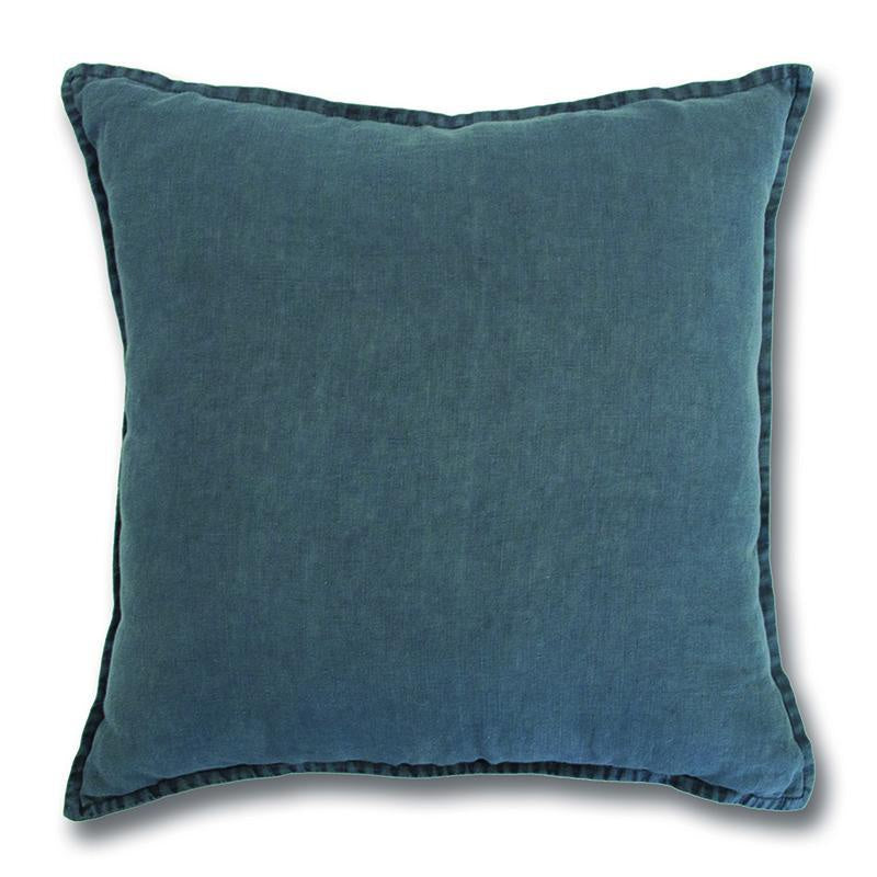 Stonewashed Linen Ink Cushion 50cm