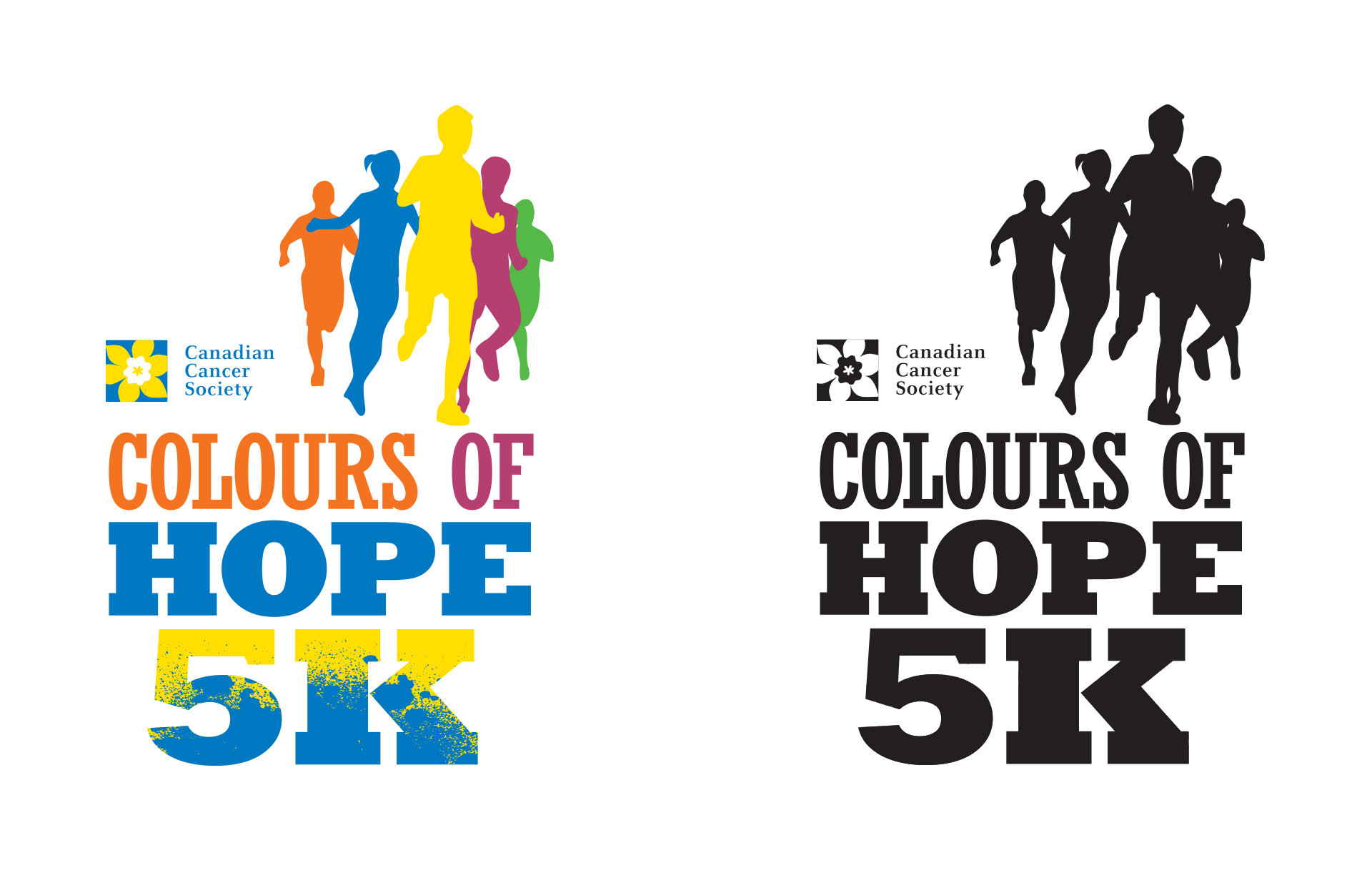 Canadian Cancer Society Colours Of Hope 5K Logo Design by Creatibly's Scott Luscombe