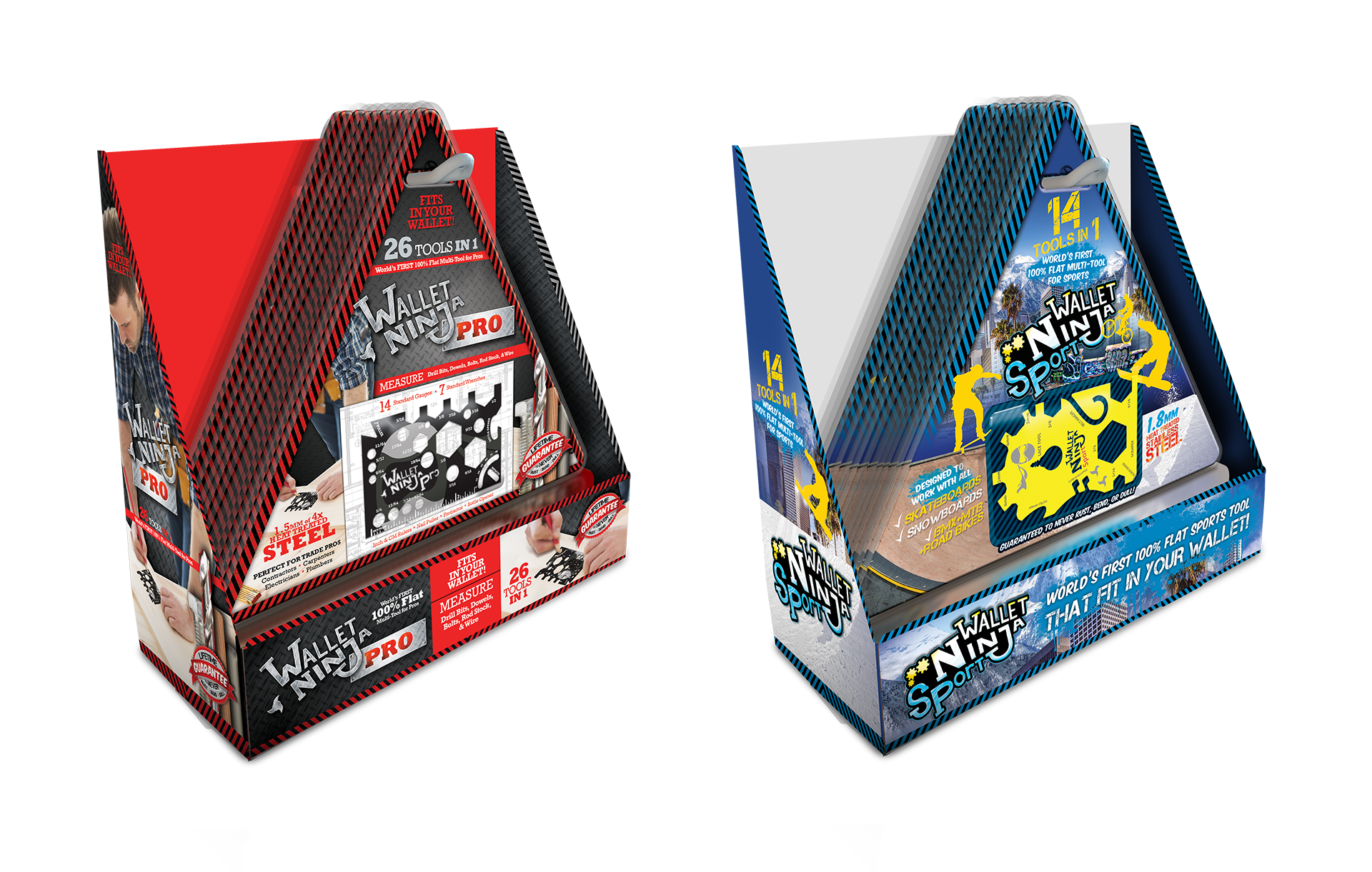 Wallet Ninja Pro and Sport Product Packaging Design by Scott Luscombe of Creatibly