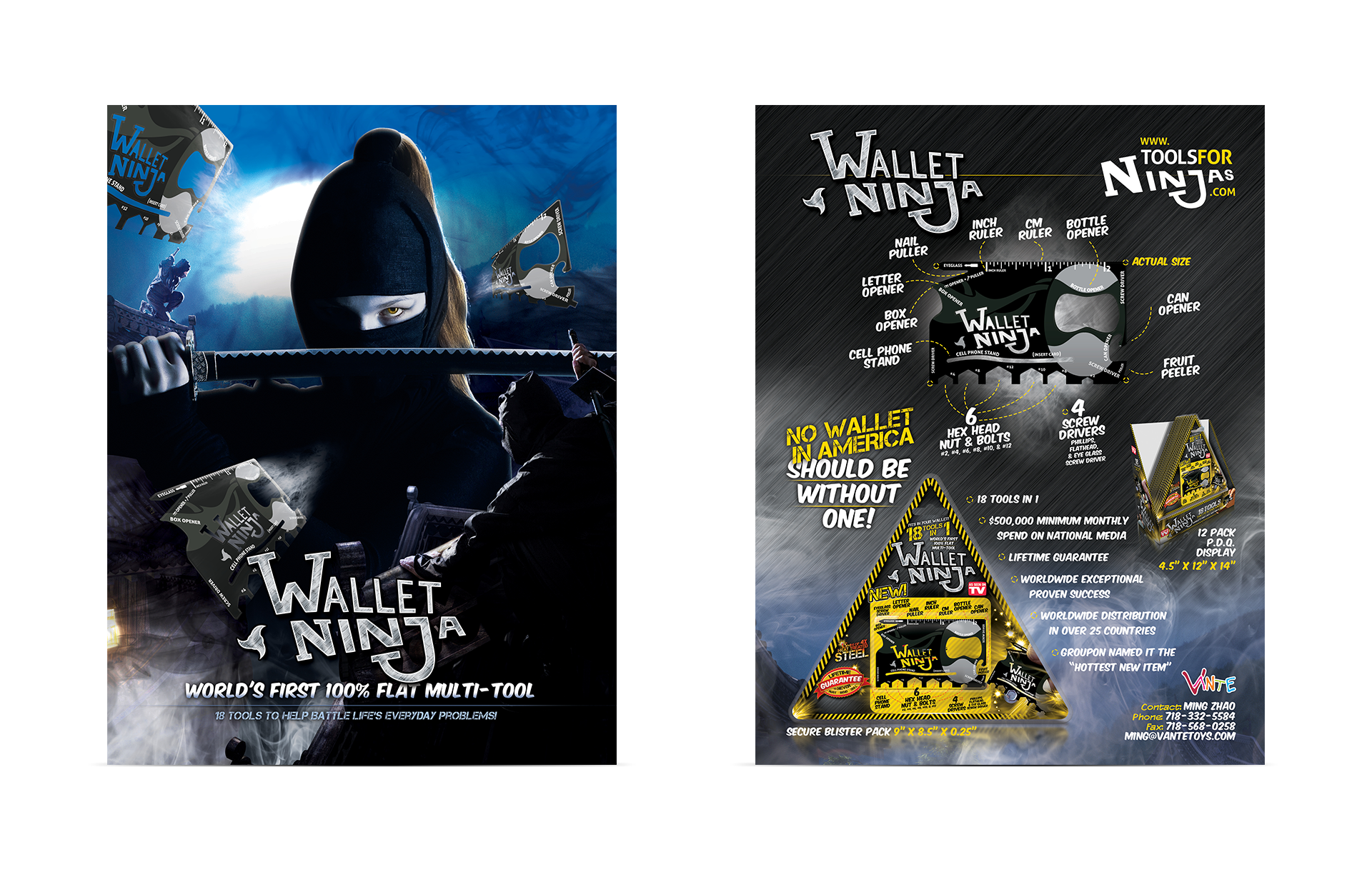 Wallet Ninja Print Sell Sheet Design by Scott Luscombe of Creatibly