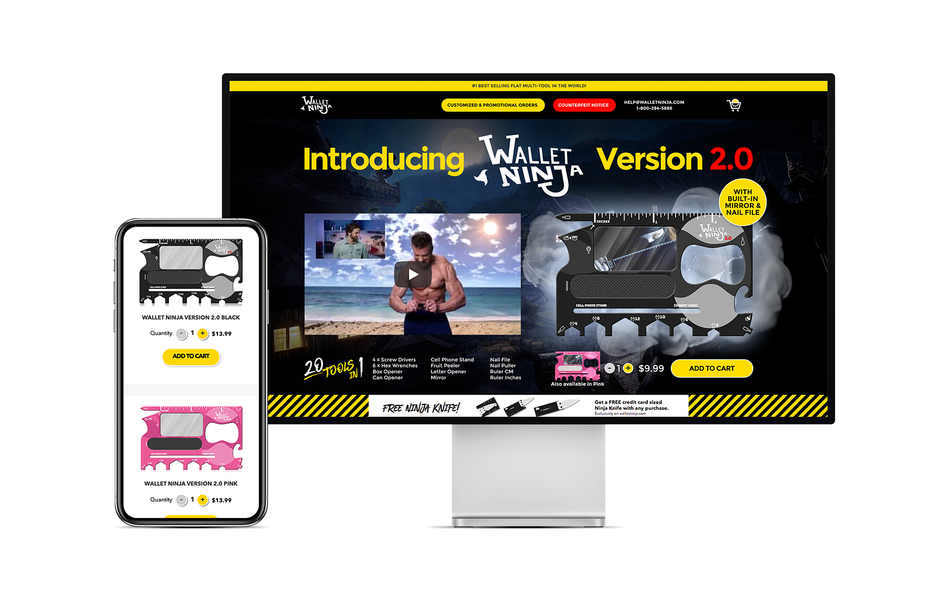 Wallet Ninja Website Design and Website Wordpress Woocommerce Development by Scott Luscombe of Creatibly