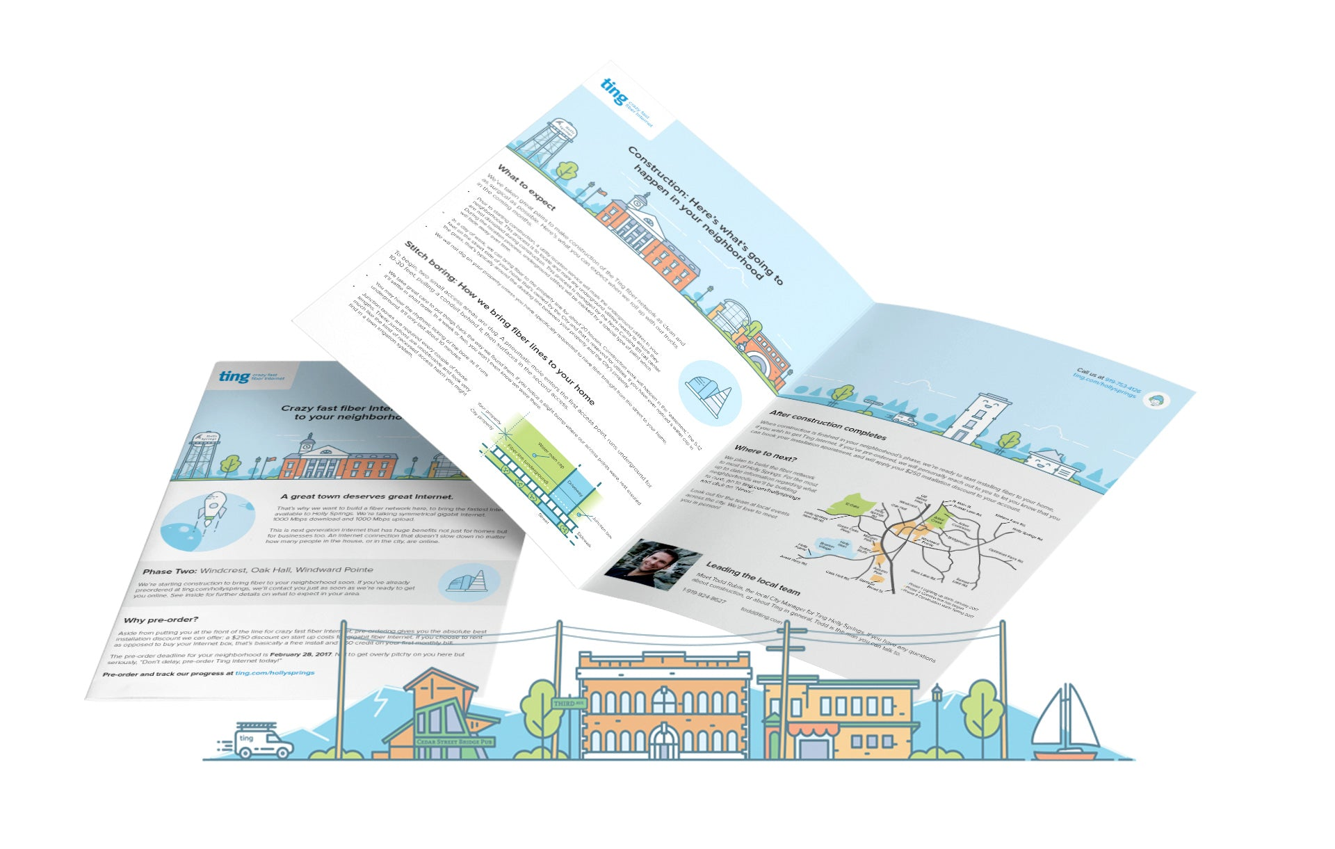 Creatibly Ting Brochure Design and Illustration