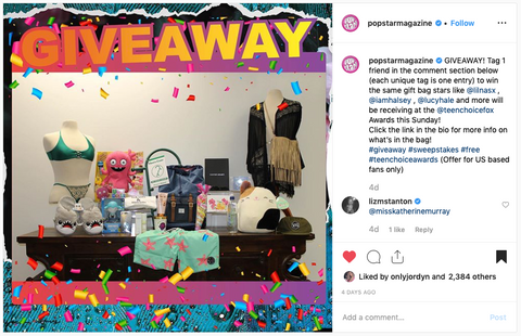 popstar magazine instagram teen choice awards giveaway - sequin sand - swimwear- sunglasses