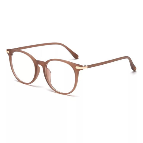 go getter cute trendy tan nude brown blue light blocking glasses