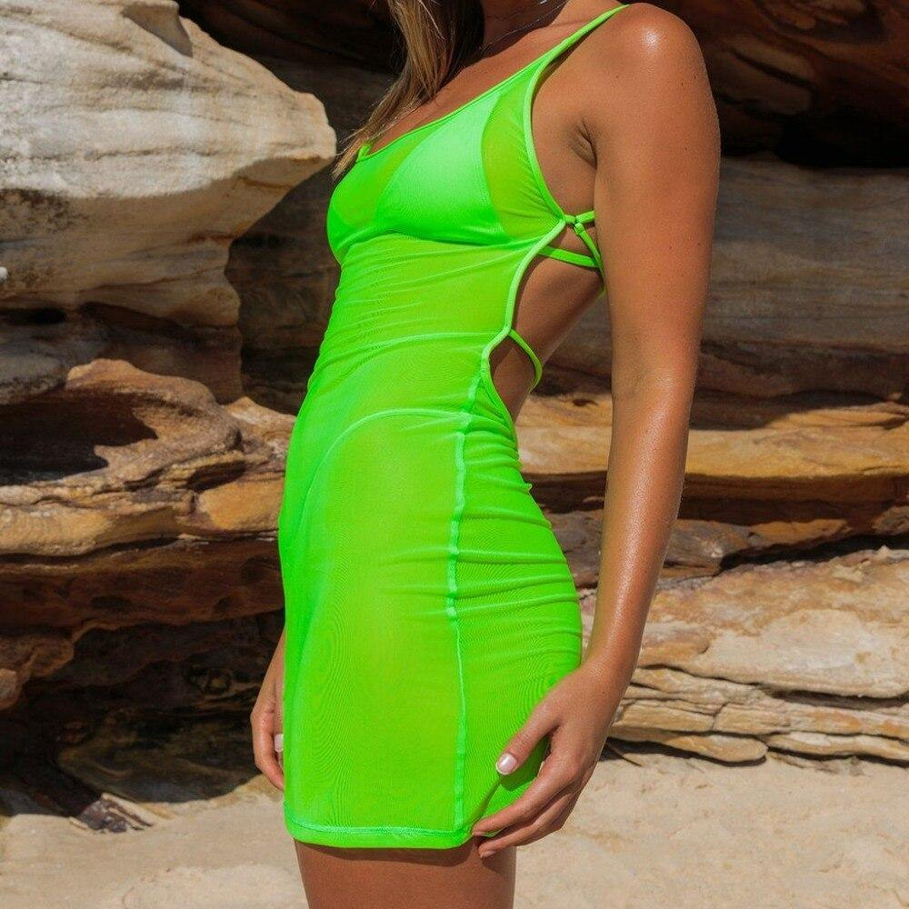 Limeade - Neon Green Cover up - Sequin Sand, LLC