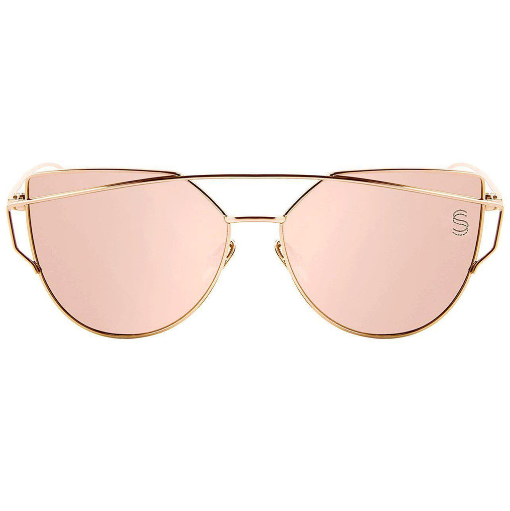 Barcelona - Rose Gold, Sunglasses - Sequin Sand