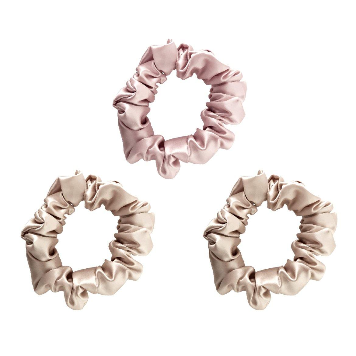 100% Silk Scrunchies - 3 Pack - Sequin Sand, LLC