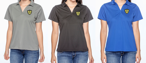 ladies polo embroidered logo
