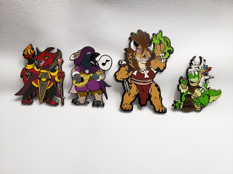 Kenku, Kobolds & Gnolls Oh My! Pin Set
