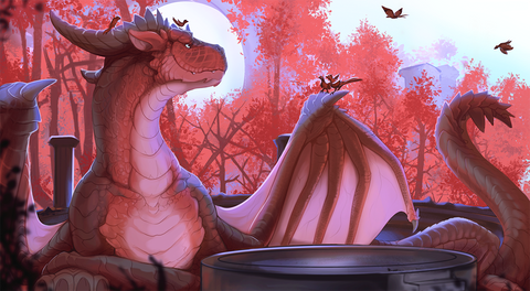 "Chromamancer - ""Autumnus"" - 14x24 Playmat"