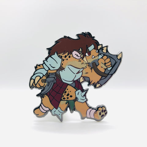 "Gnoll Warrior - 2"" Pin"