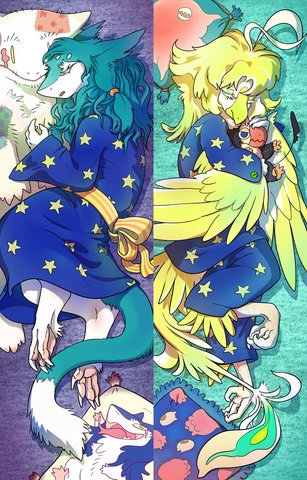 Jakk and Quu - Sweet Dreams Slumber Party Dakimakura