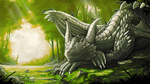 "Chromamancer - ""Restful Day"" - 14x24 Playmat"