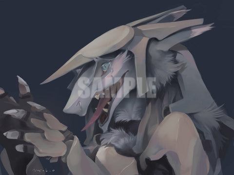 "Mick Ono - ""Leeric the Northern Sergal"" - 9""x12"" Metallic Print"