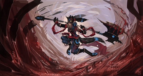 "Zephra - ""Cleave the World!"" - 14x24 Playmat"