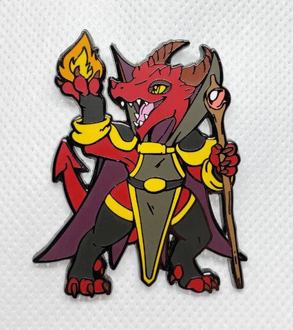 "Kiiya the Kobold Sorceress - 2"" Pin"