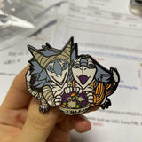 "Yip & Yap's ""Yipaween"" - 2"" GLOW IN THE DARK Limited Edition Pin"
