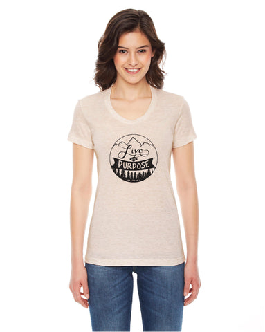 """Live with Purpose"" (round) Unisex T-shirt"
