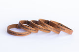 Custom Leather Word Bracelets