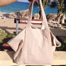 New Suzy Linen Bag - Natural Linen