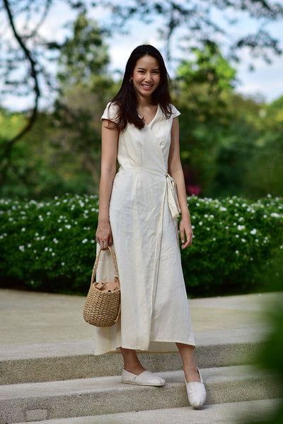 Isabella Dress - white , cream