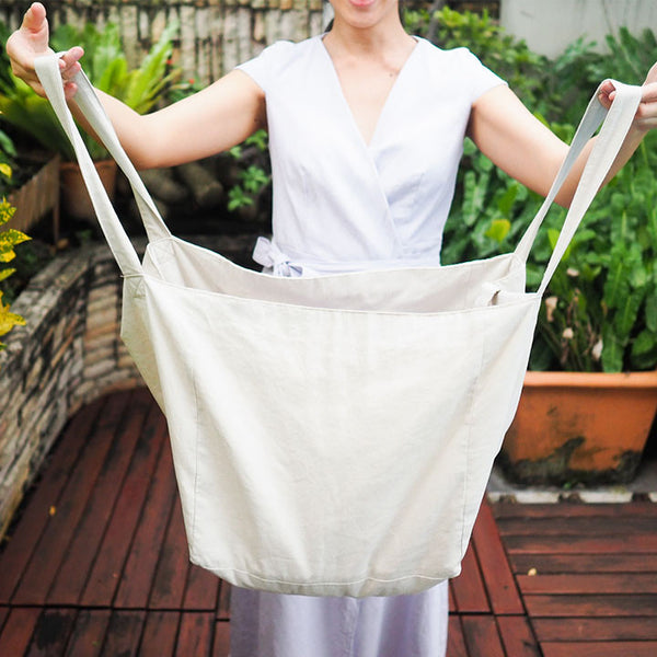 Suzy Linen Bag - grey