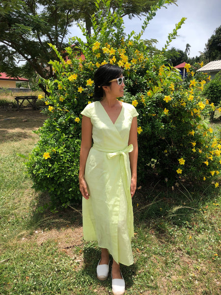 Isabella Dress - lemon lime