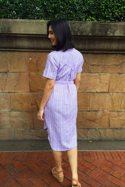 Teresa Purple Stripe