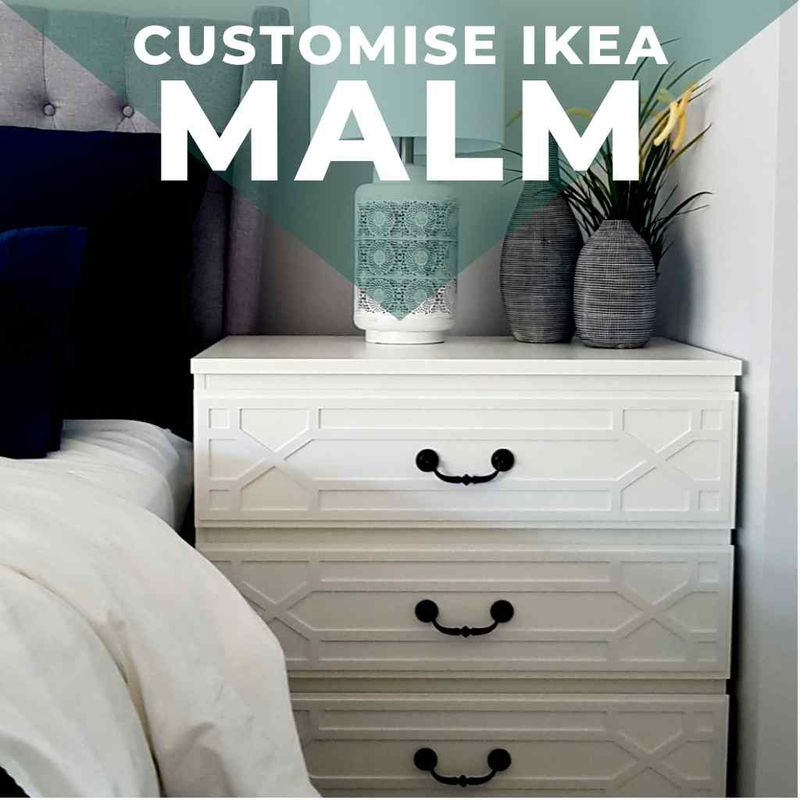 Peel-and-stick panels suitable for IKEA Malm furniture