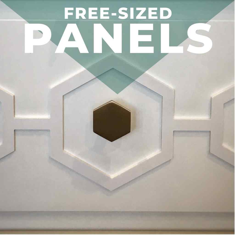 FREE-SIZE STYL-PANELS FOR FURNITURE EMBELLISHMENT
