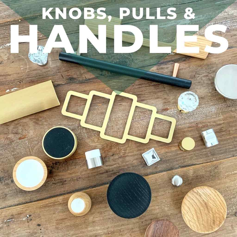 Handles and pulls for IKEA hacks and furniture customisation