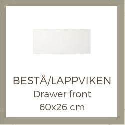 Overlay decoration panels for IKEA Besta drawer fronts 60 x 26 cm