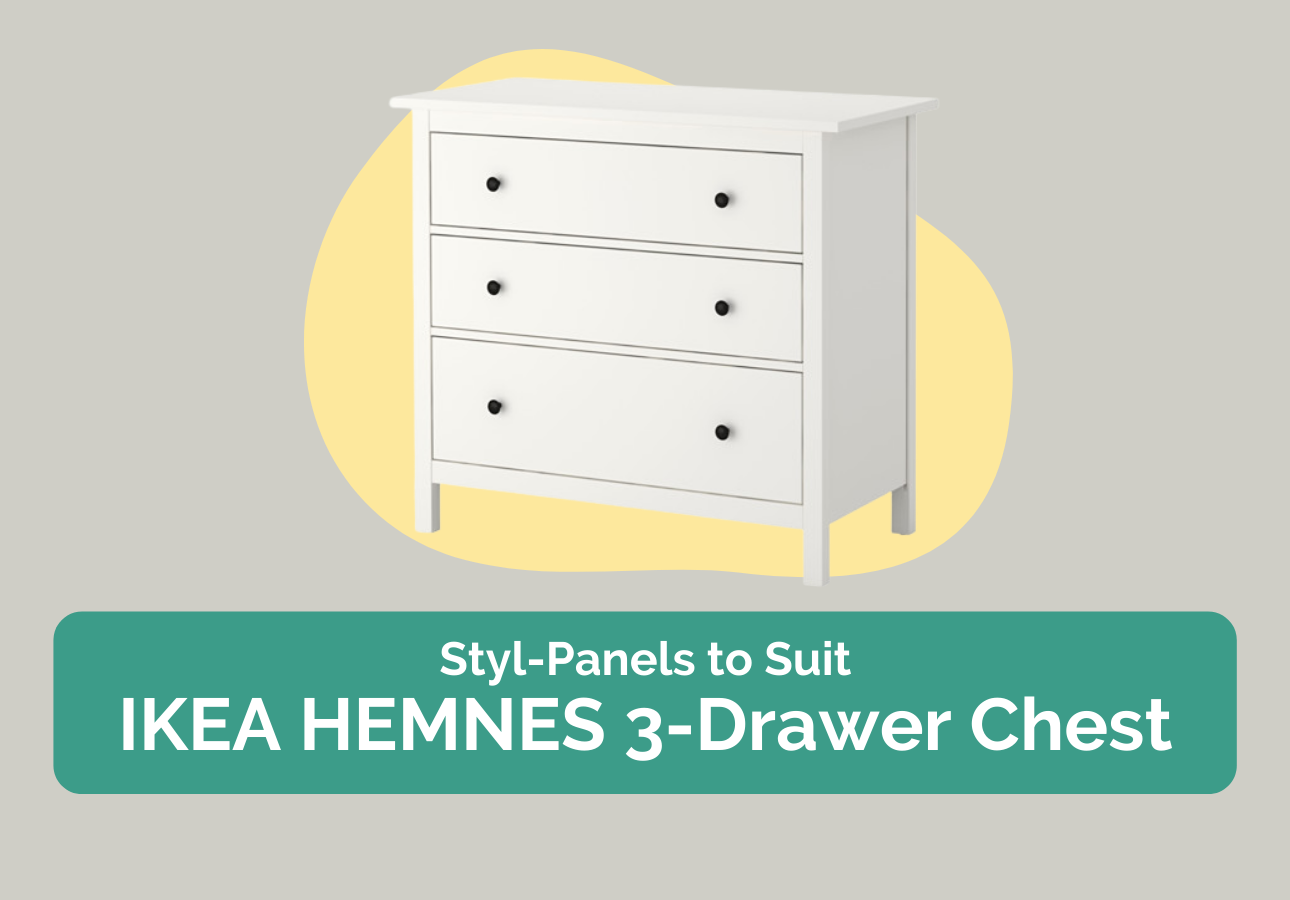 Styl-Panels to suit IKEA Hemnes 3-drawer chest